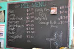Clemton Park Cake Shop pie menu