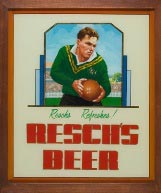 Resch's pub poster displayed in the NRL museum